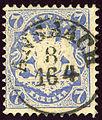 Första tyska frimärket
